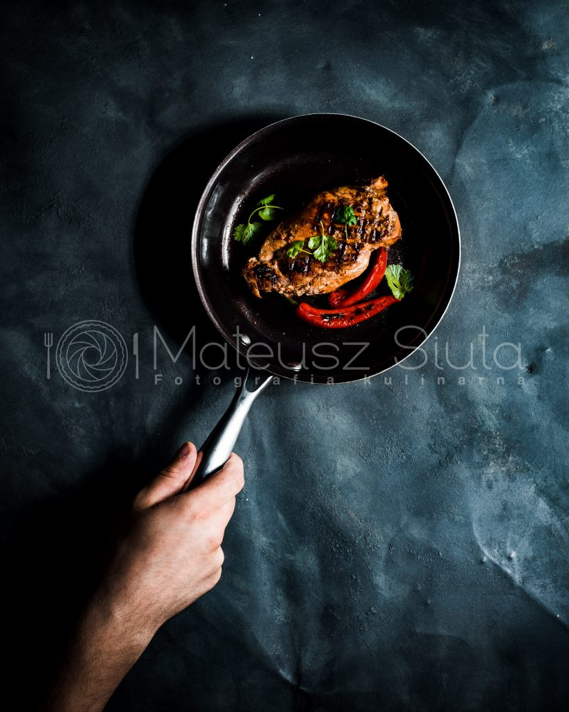 pierś z kurczaka w ostrej marynacie chilli